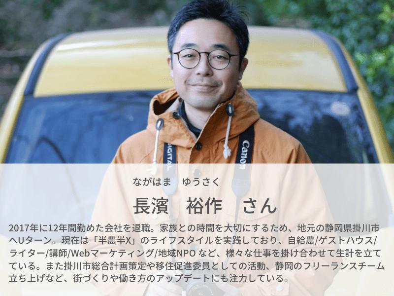 社会インフラに依存しない、豊かな暮らし|実践者である長濱さんが語る半農半Xの魅力とは|プロフィール